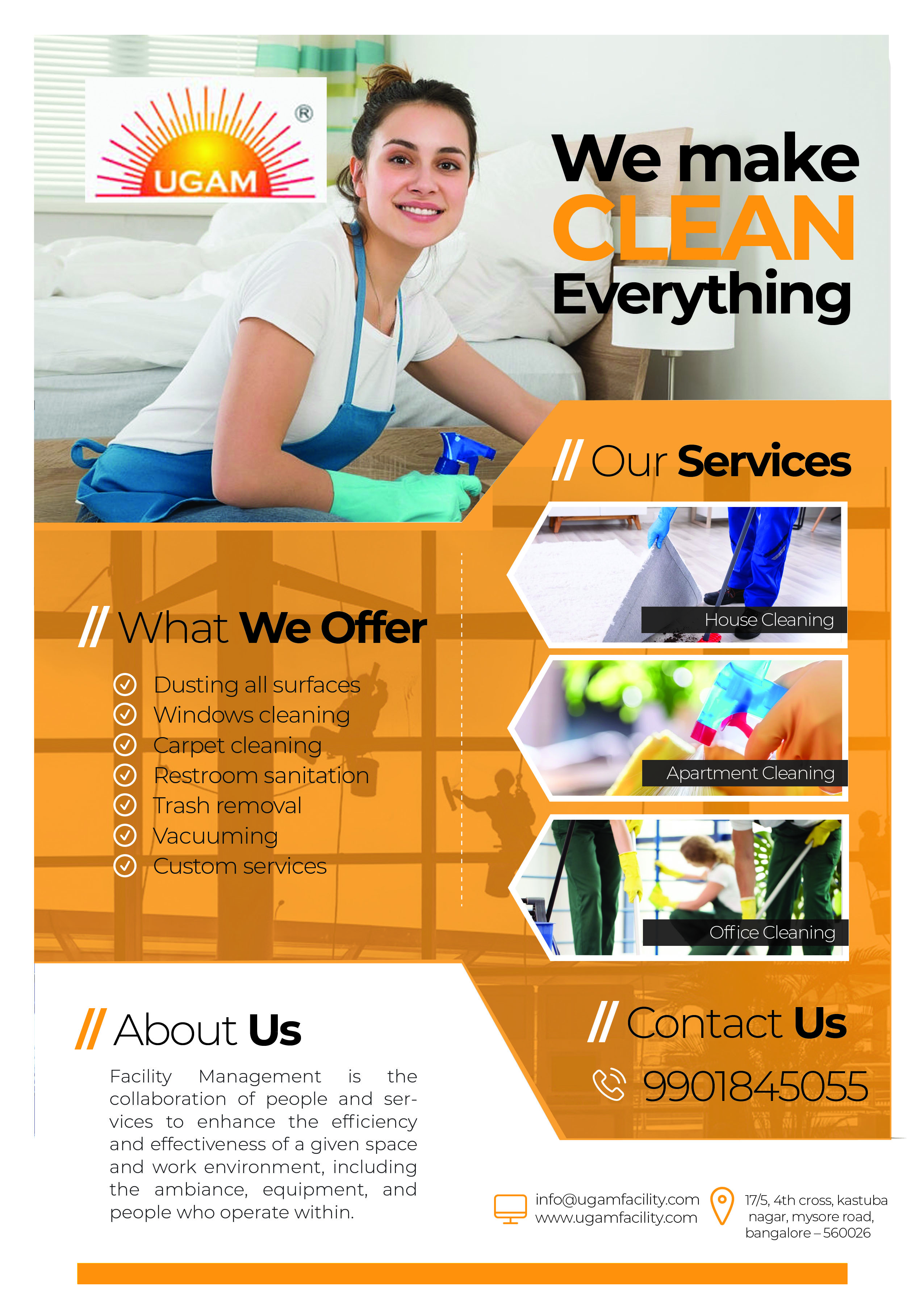 Cleaning Service Company Flyer - bangaloredigitalmarketing.com